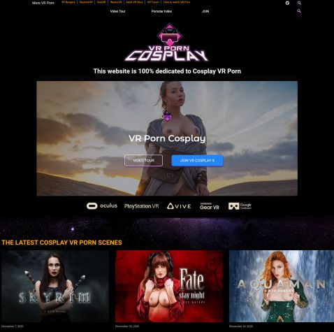 Cosplay vr porn site